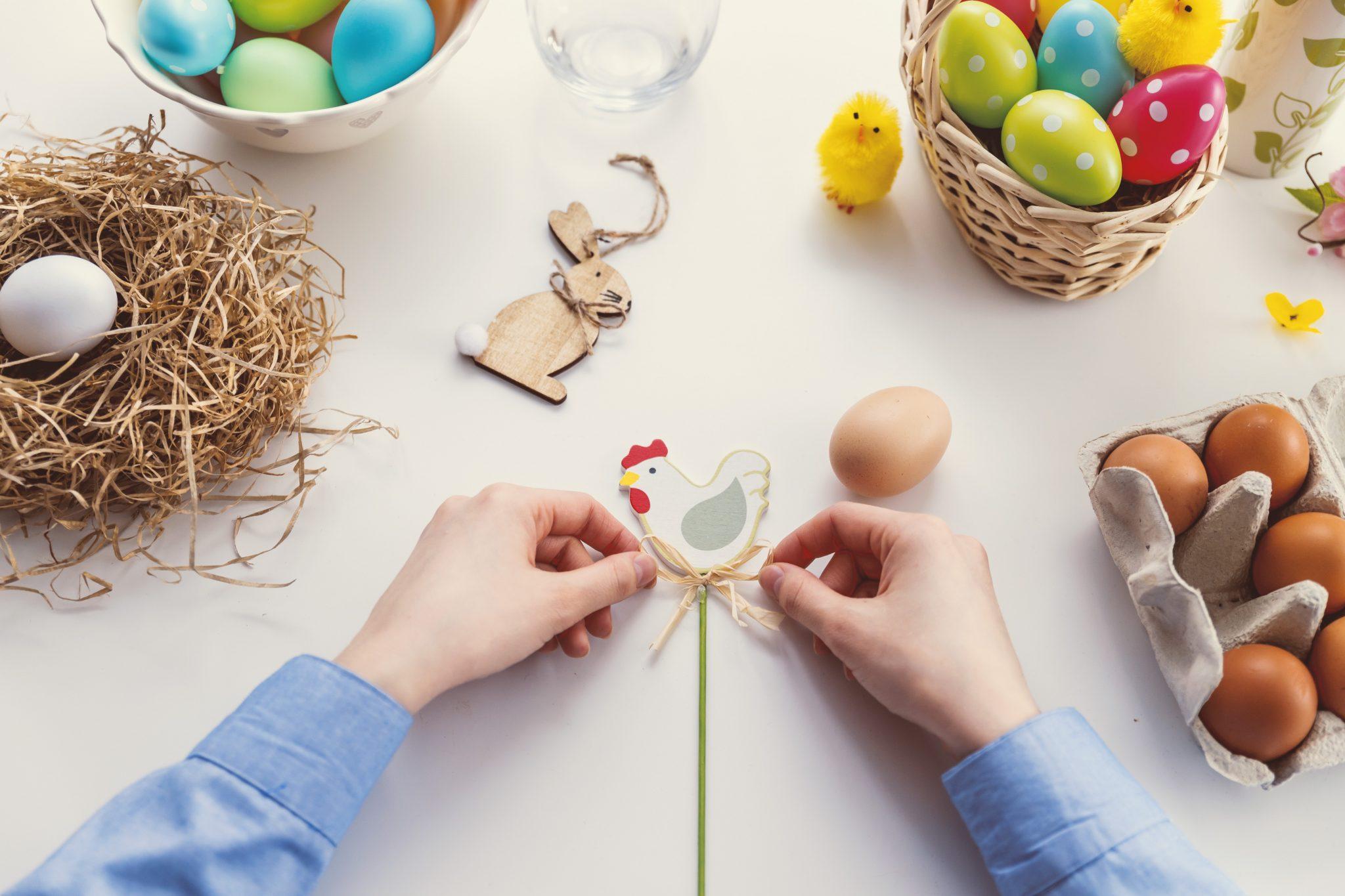 Coomir Ornamenti Artigianali Regali Eventi Decorazione di Pasqua a Coniglio in Legno Decorazione da Tavolo 1 Feste