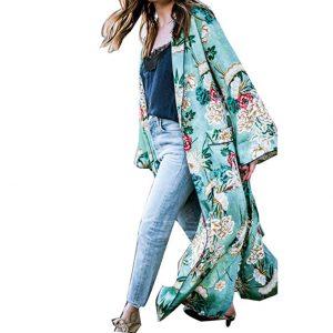 Abollria Kimono Cardigan Donna Copricostume da Bagno Cover Up per Casa Piscina Vacanze