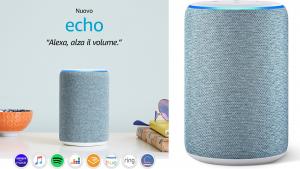 Amazon Echo: il nuovo dispositivo di terza generazione, aumento delle prestazioni audio e 4 colori a scelta