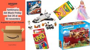 Black Friday Amazon, solo per poche ore: acquista 2 giocattoli e risparmi 50% su uno